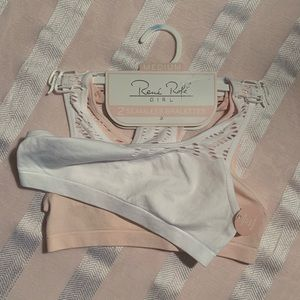 2 piece seamless bralettes for girls by Rene Rofe